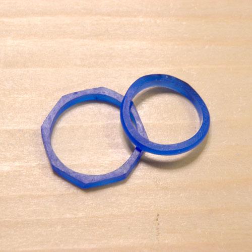 様々な形の指輪ワックス原型