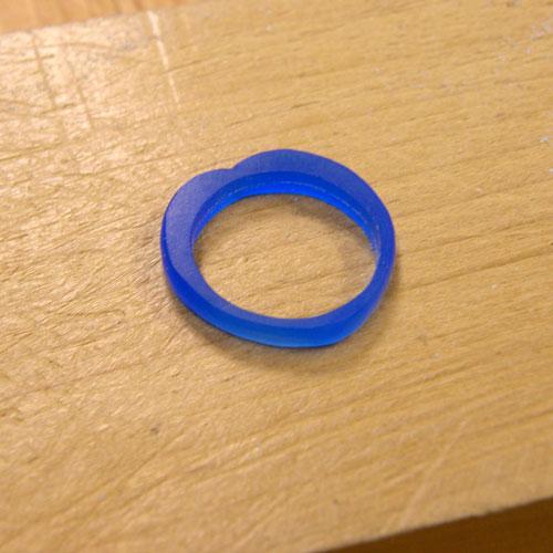 ハート型の手作り指輪ワックス原型