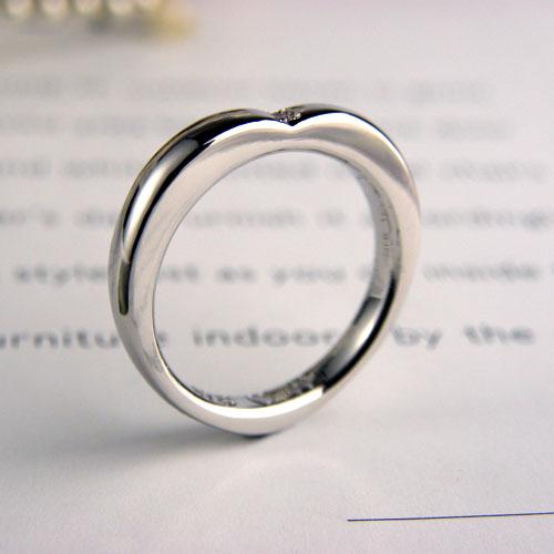 ハート型の手作り指輪
