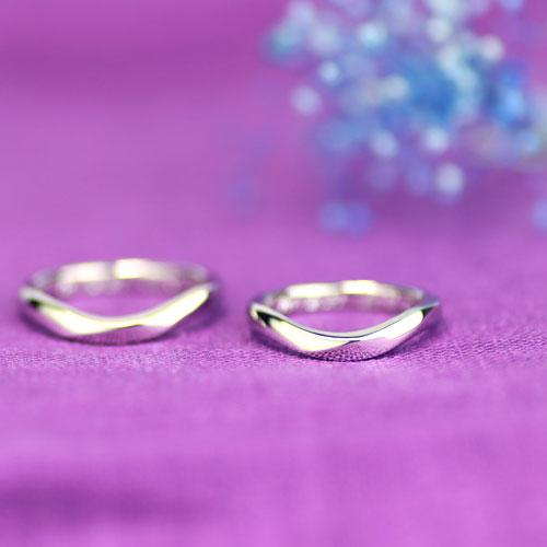 U字型の手作り結婚指輪