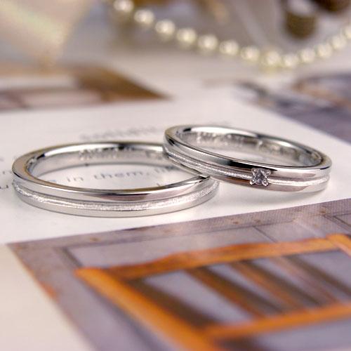 中央ラインの手作り結婚指輪