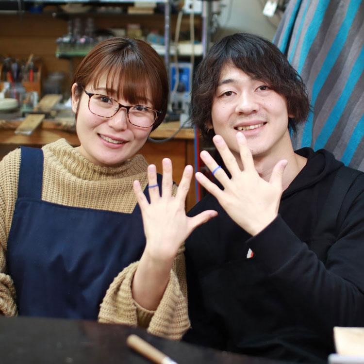 手作り結婚指輪原型の完成