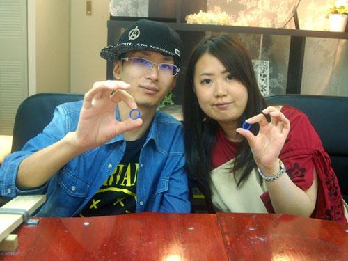 結婚指輪原型が完成した大阪のお客様