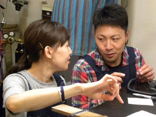 結婚指輪を手作りする徳島のお客様