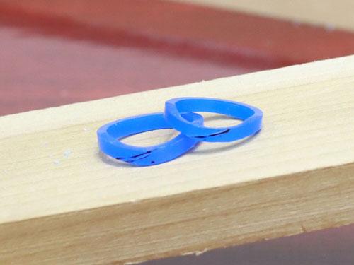 U字型結婚指輪原型