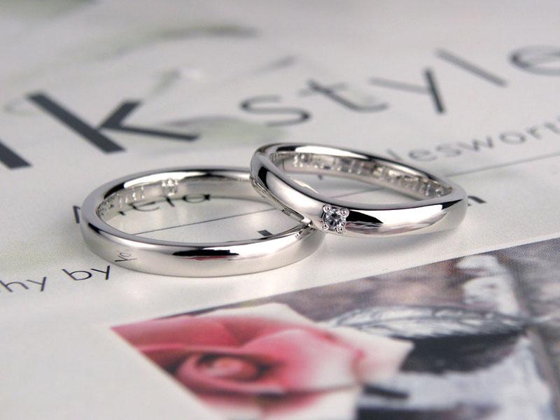 U字型とストレート型の手作り結婚指輪
