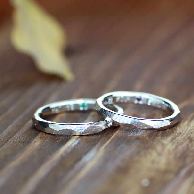 ヤスリ目ナチュラル結婚指輪