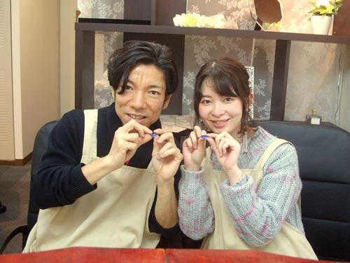 結婚指輪原型が完成した奈良のカップル