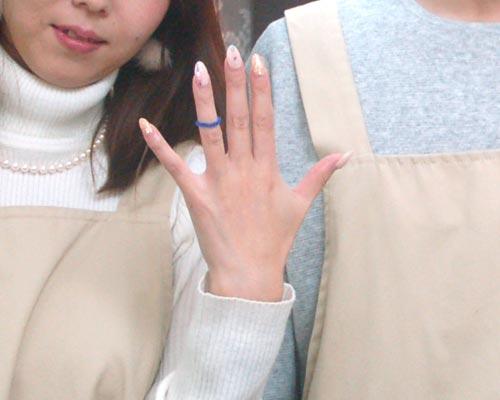 ネイルしてても完成した手作り結婚指輪
