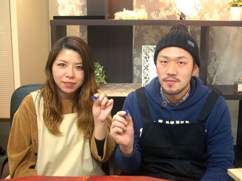 結婚指輪の原型が完成した大阪のお客様