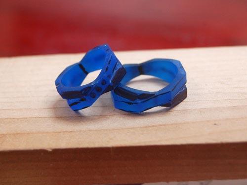 個性的な手作り結婚指輪原型