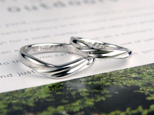 スカーフを巻いたような手作り結婚指輪