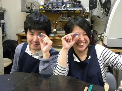 結婚指輪原型が完成したカップル