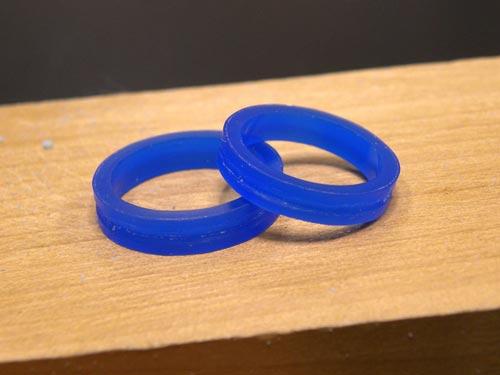 幅広の手作り結婚指輪原型