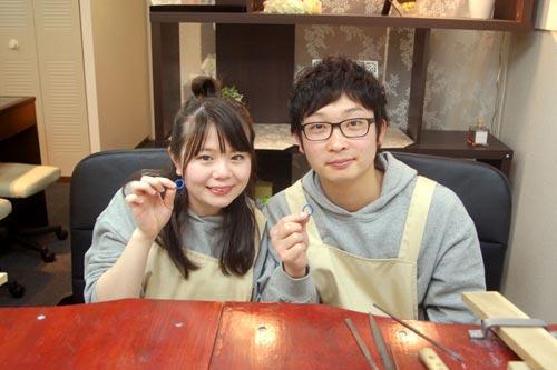 手作りで結婚指輪を作った大阪のカップル
