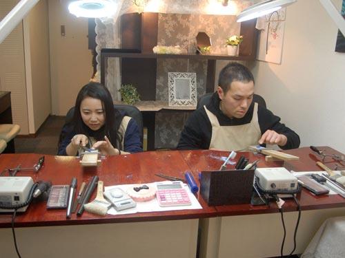 手作りで結婚指輪を作る大阪のお客様