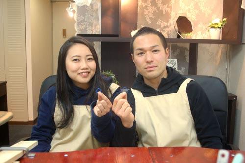 結婚指輪が完成した大阪のお客様