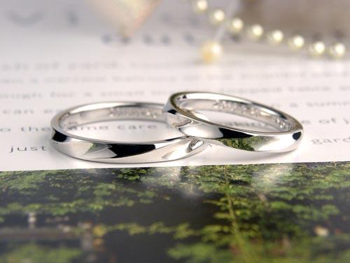 螺旋状の手作り結婚指輪