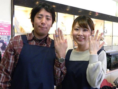 結婚指輪を手作りした二人