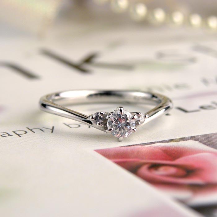 プラチナダイヤ手作り婚約指輪