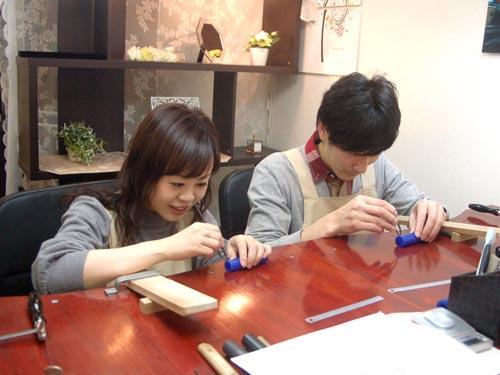結婚指輪を手作りする大阪工房のお客様