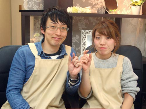 結婚指輪を手作りした大阪のカップル