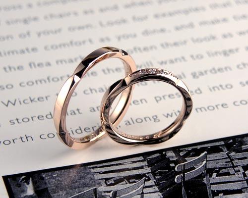 側面花びらの手作り結婚指輪