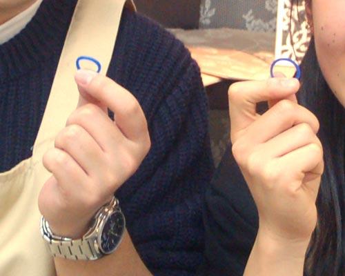 結婚指輪原型が完成した大阪のカップル