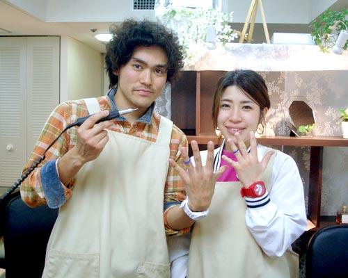 自作で結婚指輪を手作りした大阪来店のお客様