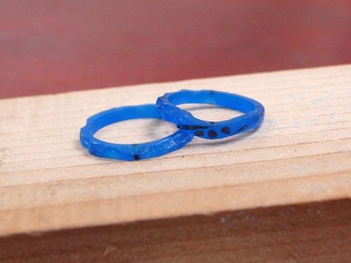 手作りした結婚指輪原型
