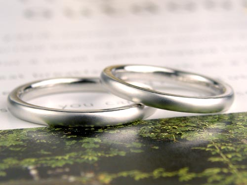 ストレートつや消しマット手作り結婚指輪