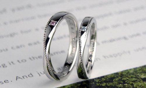 メビウスの輪にミル打ち手作り結婚指輪