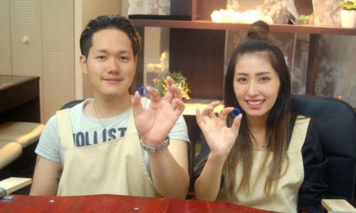結婚指輪原型が完成した兵庫県のお客様