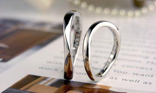 S字型シンプルな捻じれ手作り結婚指輪
