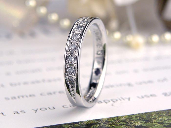 ダイヤが豪華な手作り指輪