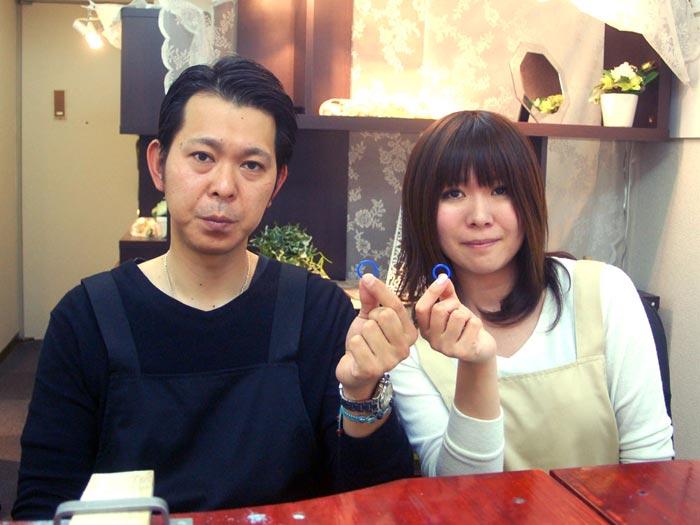 京都の手作り結婚指輪お客様