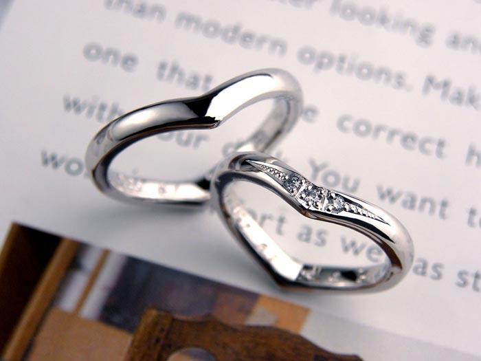 サプライズで手作りしたハート指輪
