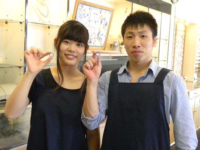 結婚指輪の手作りに香川より来店