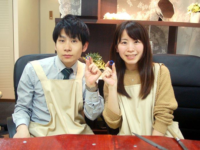兵庫県の結婚指輪手作りカップル