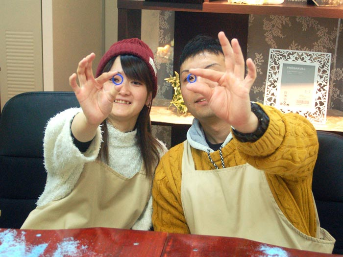 指輪原型が完成した大阪のカップル