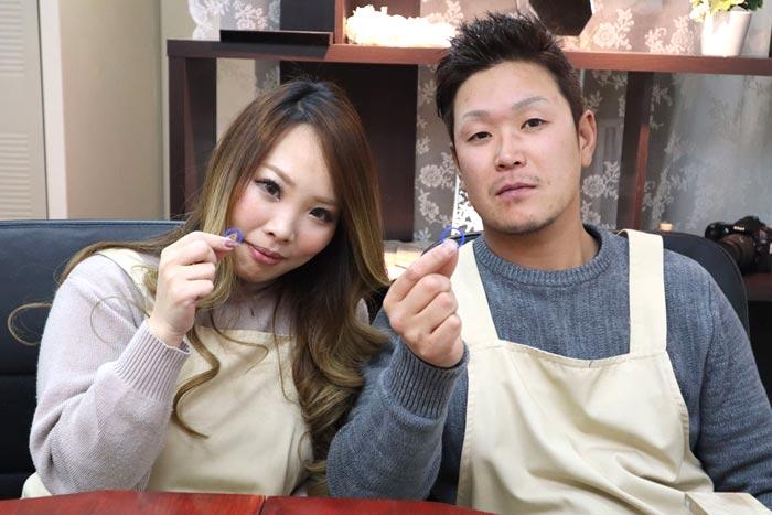 結婚指輪原型完成した大阪の二人