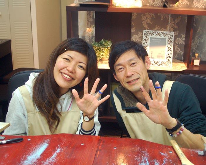 結婚指輪を手作りした大阪の二人